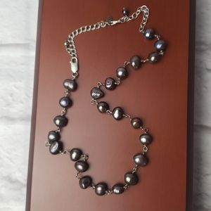 Silpada Iridescent Dark Purple Pearl Necklace